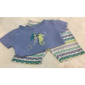 Gymboree Girls Mermaid Short Set